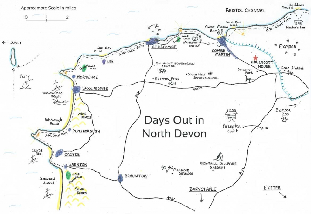 Exploring North Devon Map
